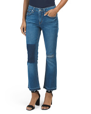 Made In Usa Gia Cropped Flare Jeans