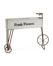 Indoor Outdoor Metal Bike Planter
