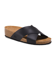Made In Spain Leather Cross Band Sandals