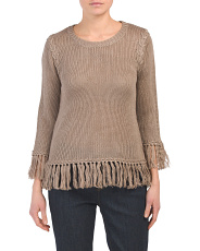 Juniors Fringe Detail Sweater