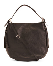 Made In Italy Large Convertible Leather Hobo