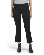 Made In Usa Mid Rise Cropped Bootcut Jeans