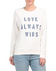 Made In Usa Love Always Pullover Sweater