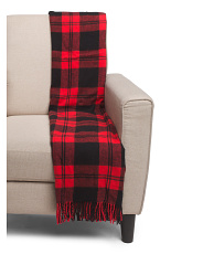 Made In Italy Boxed Plaid Throw