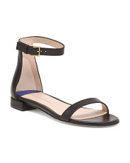Made In Spain One Band Flat Leather Sandals