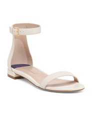 Made In Spain Leather Flat Sandals