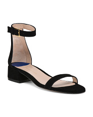 Made In Spain One Band Flat Suede Sandals