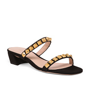 Made In Spain Two Band Suede Sandals