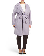 Plus Wool Blend Double Faced Coat