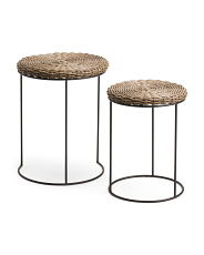 Set Of 2 Outdoor Accent Tables