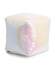 18x18 Reversible Sequin Pouf