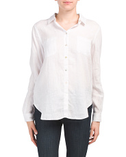 Linen Solid Button Front 2 Chest Pocket Shirt
