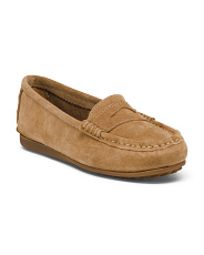Made In Italy Suede Driver Flex Sole Flats