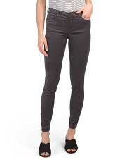 The Bond Mid Rise Washed Skinny Jeans