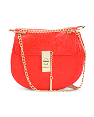 Satchel With Chain Crossbody Strap