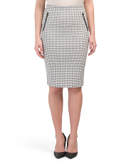 Classic Fit Pull On Pencil Skirt