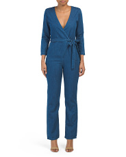 Made In Usa Moxy Denim Wrap Jumpsuit