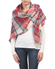 Collegiate With Frayed Plaid Wrap