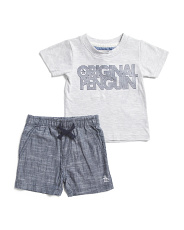 Infant Boys Tee And Shorts Set