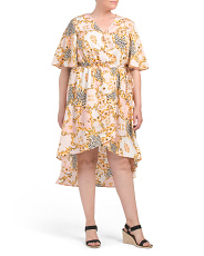 Plus Junior Animal Status  Wrap Dress