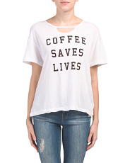 Made In Usa Coffee Saves Lives T-shirt