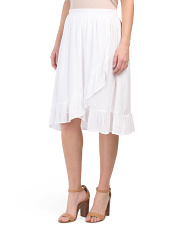 A-line Skirt With Ruffle Detail