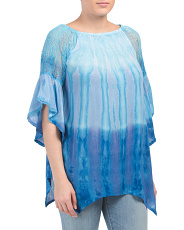 Tie Dye Tunic With Lace Detail