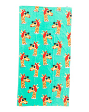 Miss Giraffe Beach Towel