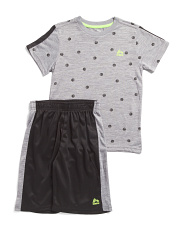 Big Boys 2pc Graphic Tee And Active Shorts Set