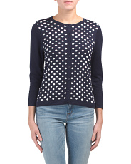 Polka Dot Buttoned Up Cardigan