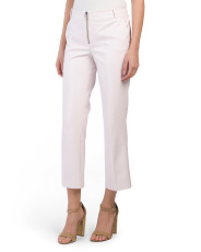 Zip Front Cropped Flare Pants