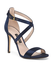 Satin Strappy Heel Sandals