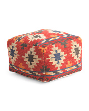 Made In India 22x14 Jacquard Pouf