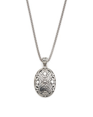 Made In Bali Sterling Silver Oval Filigree Necklace