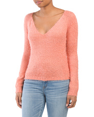 Juniors Jackie V-neck Sweater