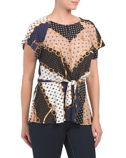 Short Sleeve Status Print Top