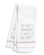 2pk Paw Prints Kitchen Towels