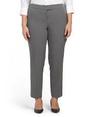 Plus Extended Tab Crepe Pants