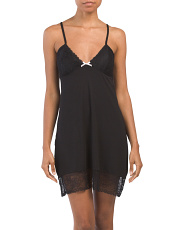 Jersey Chemise With Removable Cups