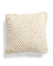 22x22 Textured Pom Pom Pillow