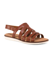 Wide All Day Comfort Leather Sandals