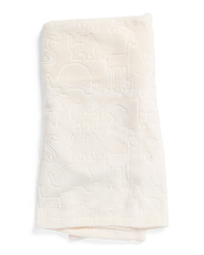 Safari Embossed Baby Throw