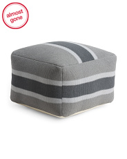 Made In India 22x22 Stripe Pouf