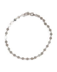 Made In Italy Sterling Silver Station Anklet