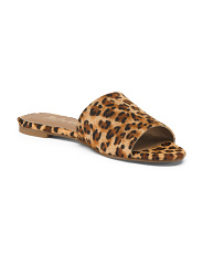 One Band Leopard Haircalf Sandals