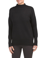 Funnel Neck With Ribbed Cuff Sweater