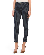 Juniors Pin Stripe Denim Pants