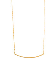Made In Italy 14k Gold Curved Bar Necklace
