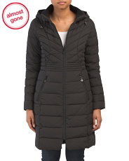 Hooded Packable Waist Lines Coat