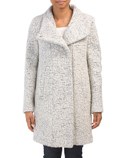 Wool Blend Textured Boucle Jacket